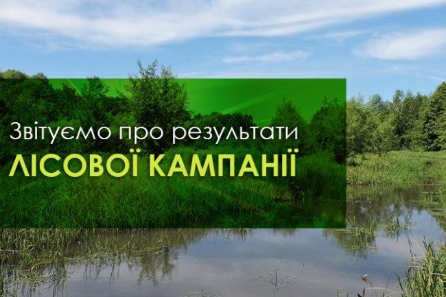 Звітуємо про результати Лісової кампанії